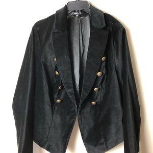 TORRID black velour blazer NWT SIZE:2 (16-18)